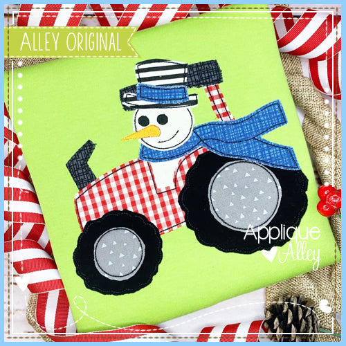 VINTAGE TRACTOR WITH SNOWMAN 5202AAEH