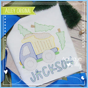 SCRATCHY DUMP TRUCK WITH TREES 5040AAEH