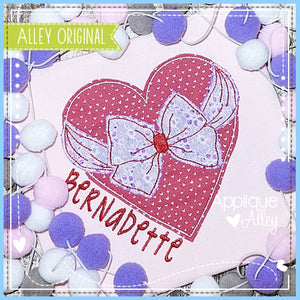 VINTAGE HEART WITH FANCY BOW 5359AAEH
