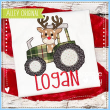 Load image into Gallery viewer, VINTAGE TRACTOR WITH RUDOLPH 5201AAEH