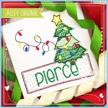 Load image into Gallery viewer, CHRISTMAS TREE WITH LIGHT STRING NAME PLATE 5188AAEH