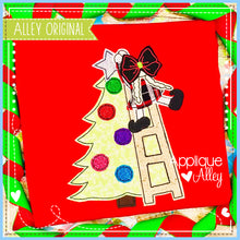 Load image into Gallery viewer, VINTAGE ELF GIRL DECORATING TREE 5204AAEH