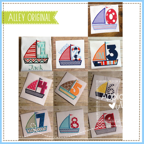 AA SAILBOAT NUMBER SET