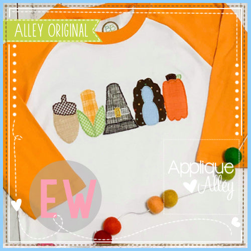 SNACK CAKES THANKSGIVING SET APPLIQUE   AAEW