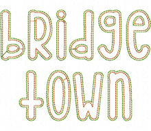 Load image into Gallery viewer, AA BRIDGETOWN DOUBLE VINTAGE APPLIQUE FONT 5070AAEW