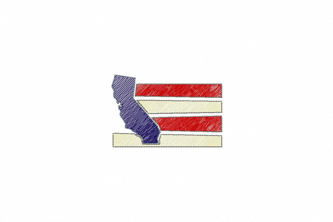 MINI CALIFORNIA FLAG 4871AAEH
