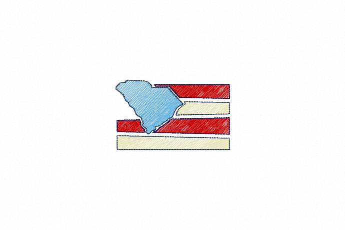 MINI SOUTH CAROLINA FLAG 4876AAEH