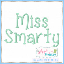 Load image into Gallery viewer, MISS SMARTY EMRBOIDERY FONT 5217AAAF