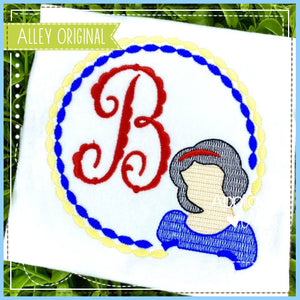 BLUE PRINCESS BEADED MONOGRAM 5404AAEH