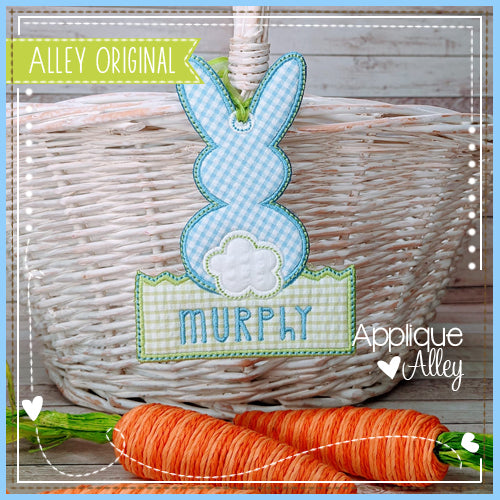 BUNNY IN GRASS BAG TAG 5419AAEH