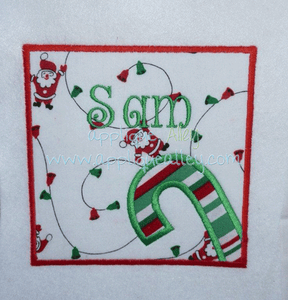 SIDE CANDY CANE PATCH