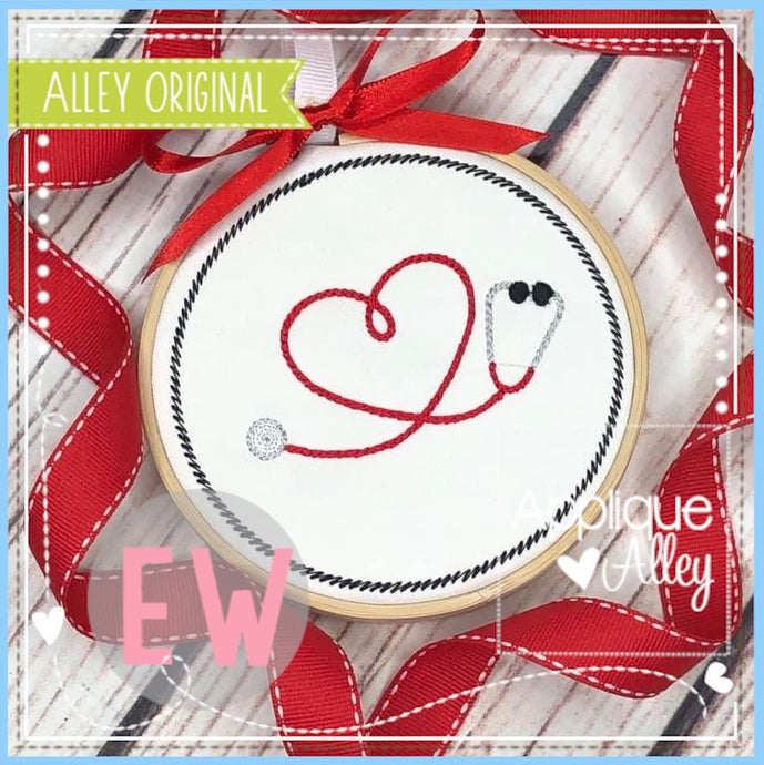 ORNAMENT HEART STETHOSCOPE 4844AAEW