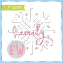 Load image into Gallery viewer, FREE STITCH SNOWFLAKE 5423AAEW