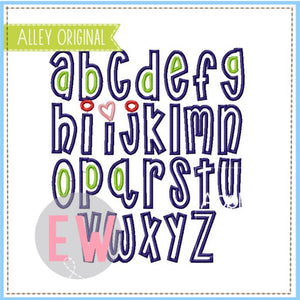 SUGAR CAKES SATIN APPLIQUE FONT AAEW5557