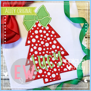 GIRLY CHRISTMAS TREE BOW 5178AAEW