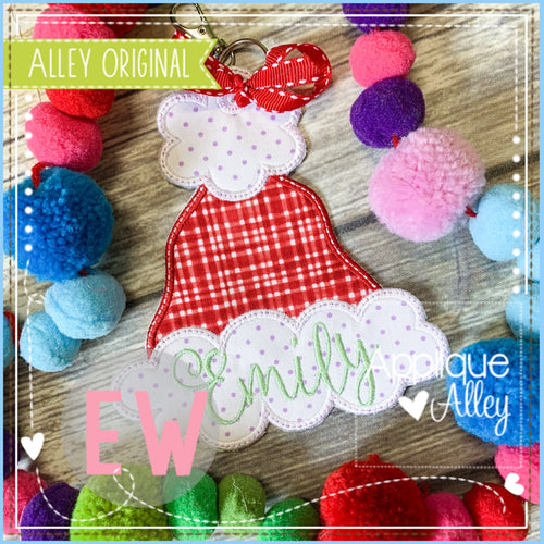 ITH FLUFFY SANTA HAT BAG TAG 5083AAEW
