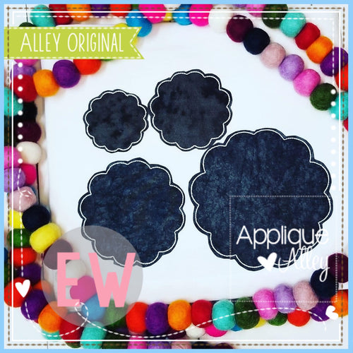 VINTAGE SCALLOP APPLIQUE SET  5091AAEW