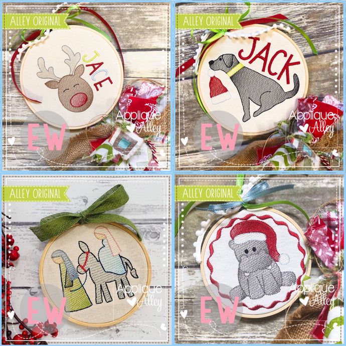 CHRISTMAS EVE ORNAMENT SET  AAEW