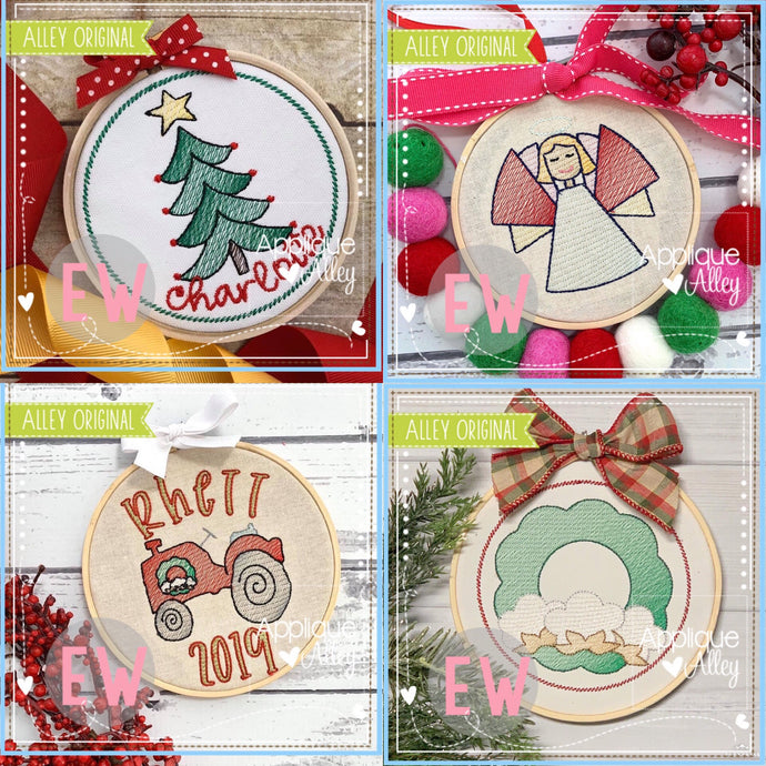 CHRISTMAS FARM ORNAMENT SET AAEW