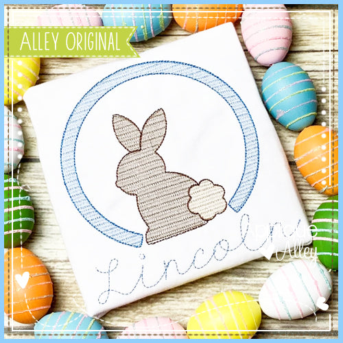SCRATCHY CIRCLE SITTING BUNNY 5425AAEH