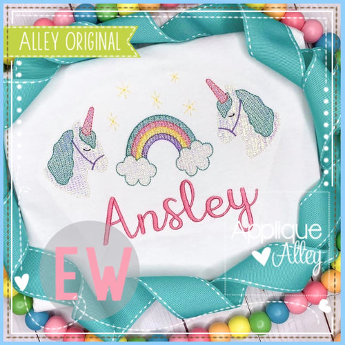SCRATCHY UNICORN RAINBOW TRIO 5308AAEW