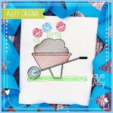 Load image into Gallery viewer, SCRIBBLED WHEELBARROW HOLDING FLOWERS 5524AAEH