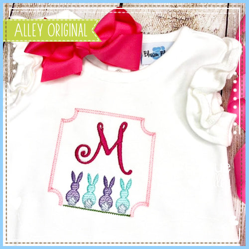 SKETCH BUNNIES MONOGRAM FRAME 5383AAEH