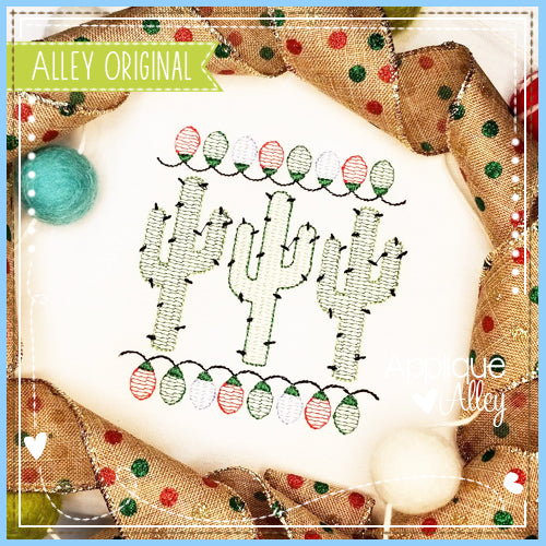 SCRATCHY CACTUS TRIO WITH CHRISTMAS LIGHTS 5127AAEH