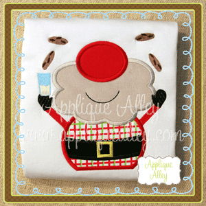 PLAYFUL SANTA WITH COOKIES