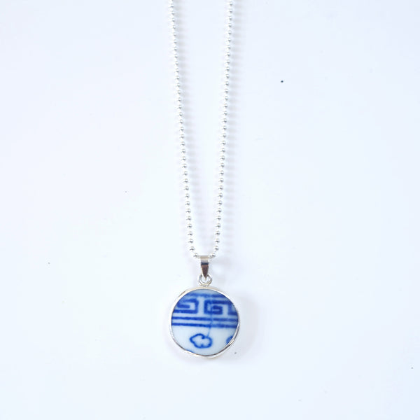 *SHANGHAI PORCELAIN DOUBLE HAPPINESS PENDANT- SMALL