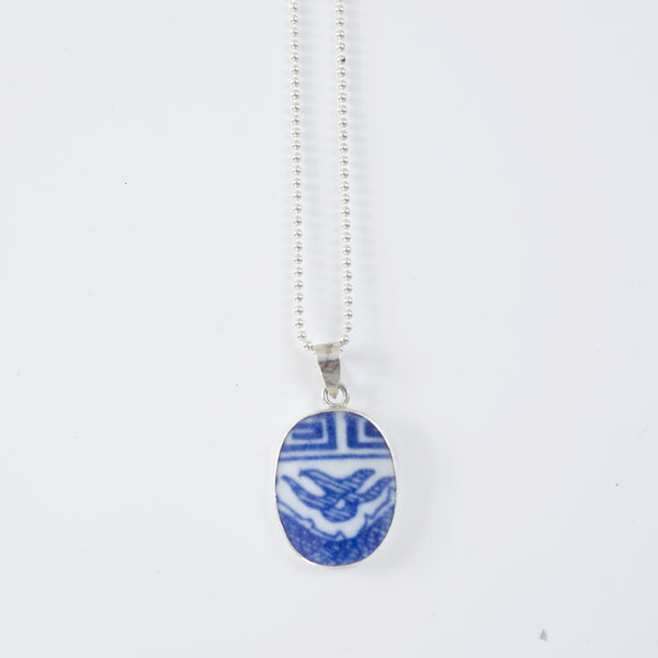 SHANGHAI PORCELAIN DOUBLE HAPPINESS PENDANT- SMALL