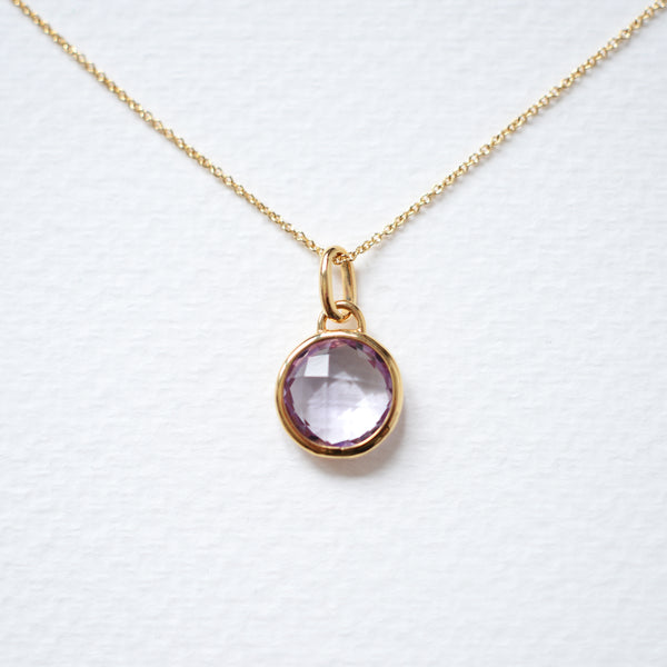 TIMELESS AMETHYST LOCKER & GOLD PENDANT