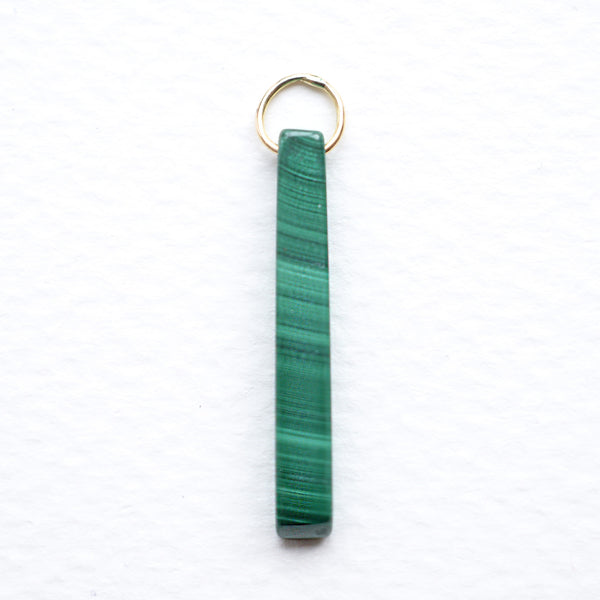 *GEOMETRIC MALACHITE SINGLE PENDANT