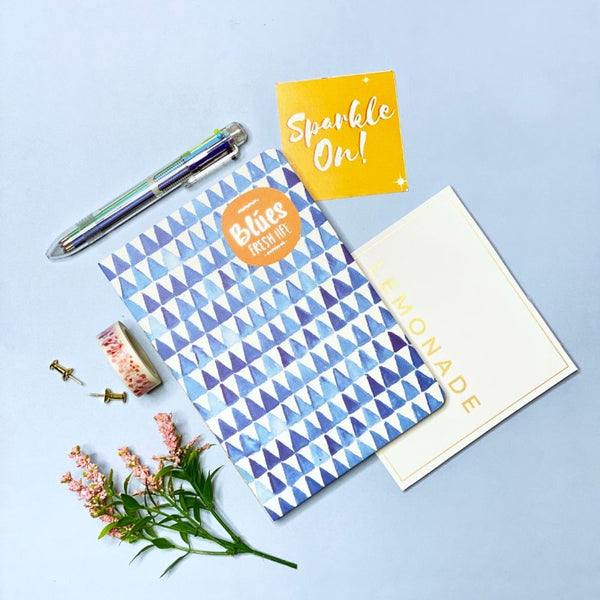 100 - Day Goal Notebook With Multicolor Pen & Washi Tape