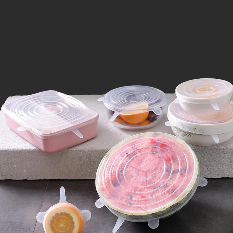 Silicone Food Cover - Pack of 6