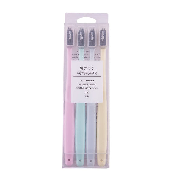 Charcoal Toothbrush (Set of 4) - The June Shop