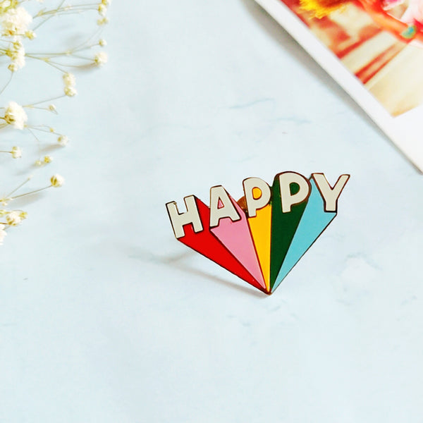 Happy - Lapel Pin