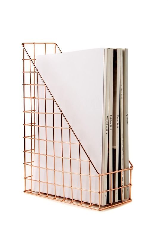 Rose Gold Wire File Storage