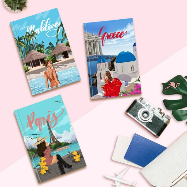Dreamy Wanderlust Notebooks (Hard Cover)