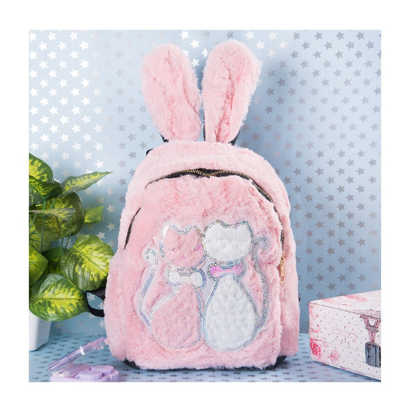 Cat Print Kids Fur Bag