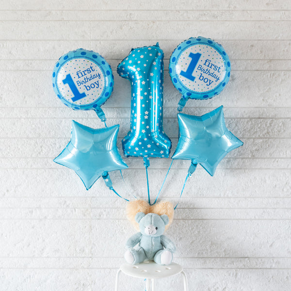 First Birthday Boy Balloon (Set)