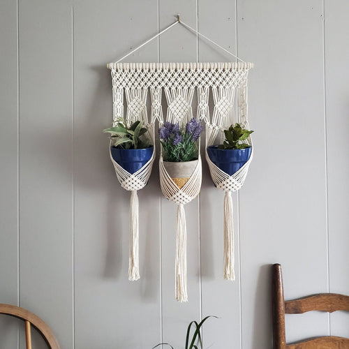 Diamond Triple Plant Hanger