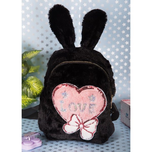 Love Print Kids Fur Bag