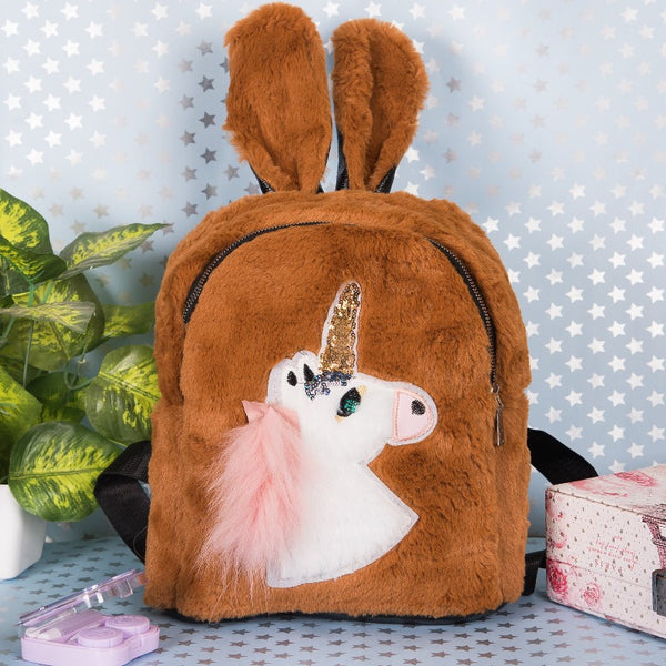 Unicorn Kids Fur Bag