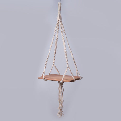 Small Macrame Wall Hanging Shelf Organizer