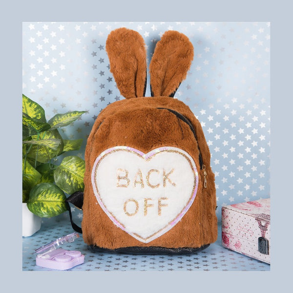 Back Off Print Kids Fur Bag