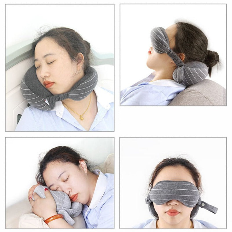 2 in 1 Neck Pillow with Eyemask