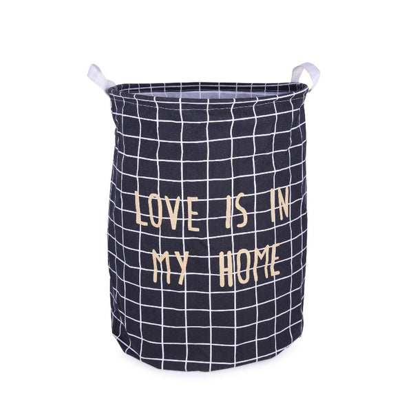 Checks Printed Laundry Bag - The June Shop