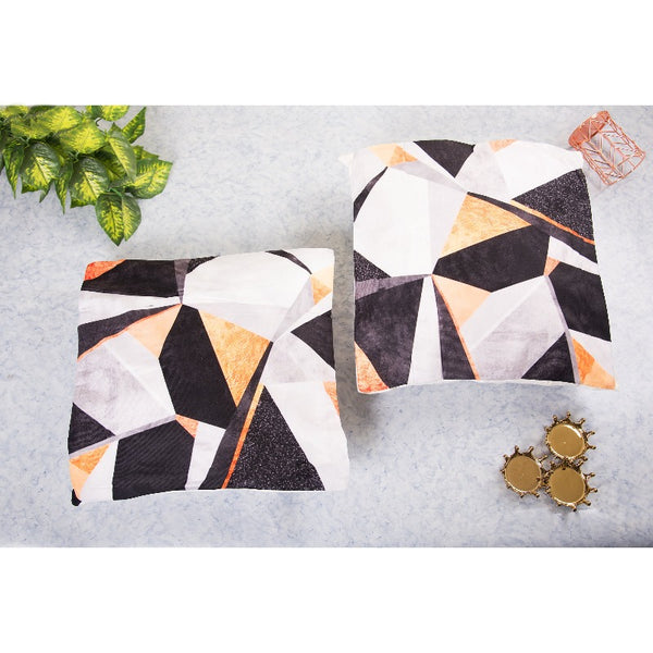 Geometric Print Cushion Cover (Set of 2)