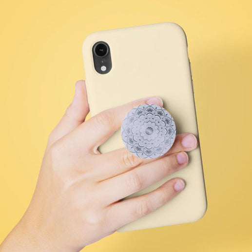 Geometric Floral Print Pop Socket